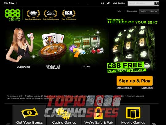 888 Casino Screenshot 1