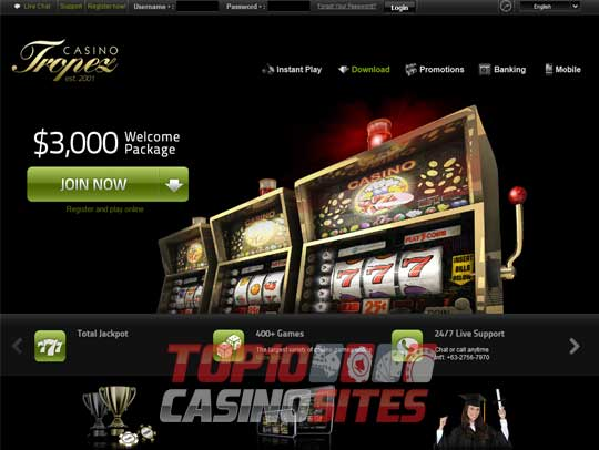 Casino Tropez Screenshot 1