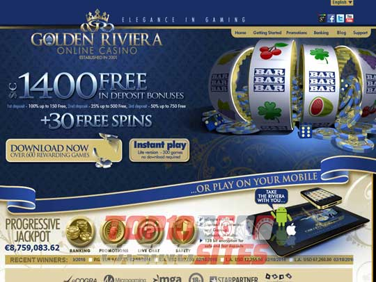 Golden Riviera Casino Live Chat