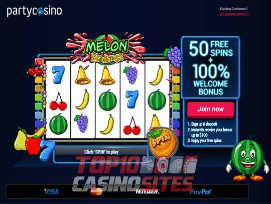 partycasino Screenshot 1