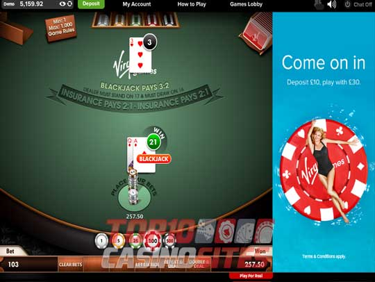 Virgin Casino Screenshot 2